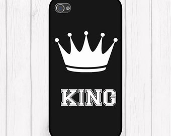 King Personalized Phone Case Choice of Colors iPhone 5 iPhone 5S iPhone 5C iPhone6 iPhone 6S Samsung iPod Case
