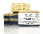 Killer Bee Soap - Killer Bee HONEY + Activated Bamboo CHARCOAL + CALENDULA (6.0 to 6.3 oz.) - All Natural, Handmade Soap