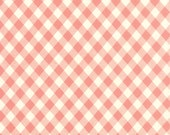 Vintage Picnic Fabric - Gingham Coral - Bonnie and Camille - Moda Fabrics - Thimbleblossoms - Cottonway - Stock #55124 -13