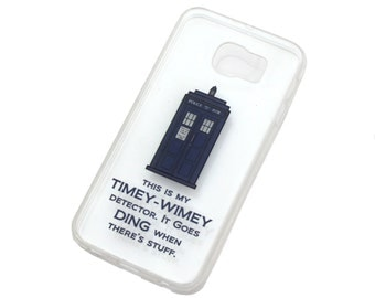 Timey Wimey Tardis Samsung Galaxy Case - Choose your model