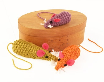 Mouse Family - Learn to knit kit