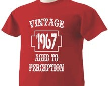 49th Birthday T-Shirt 49 Years Old Vintage 1967 Aged To Perception