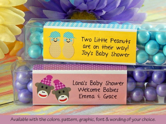 twin baby shower favors personalized twins baby shower favors