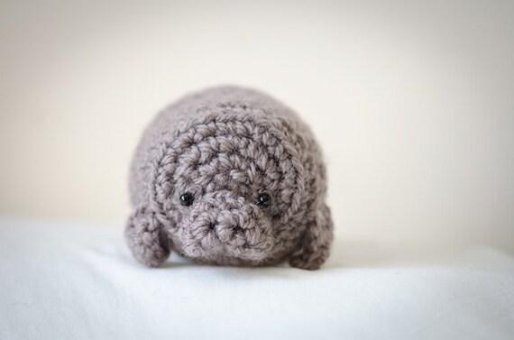 Crochet Amigurumi Manatee : Cute Mystery Manatee Amigurumi Kawaii Sea Cow by artbySusieH