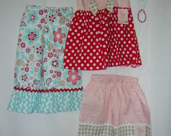Interchangeable little girls clothing set