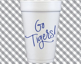 Tigers Foam Cups (Qty 12)