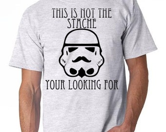 Mens tshirts - These are not the Droids / Mustache Tshirt, Cotton Tshirt, Mens Tshirt