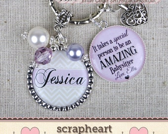 PERSONALIZED Babysitter Necklace, Babysitter Thank You Gift,It Takes A Special Person To Be An Amazing Babysitter,Babysitter Gift From Child