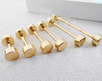gold buckles handbag accessory dumbbell-shaped buckles.8 Pcs