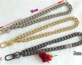 0.9cm wide,18cm length light weight chains for purse,wrist chain.