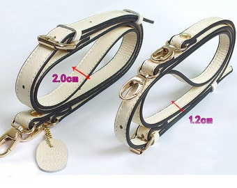 Adjuster 105--130cm length leather shoulder strap, bag strap.