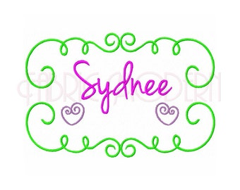 Machine Embroidery Design, monogram frame, monogram border, name border , #442
