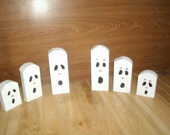 Fall Decor,Rustic halloween ghost trio, Halloween decor, wooden ghost trio, halloween ghosts