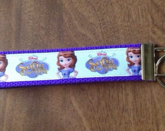 Sofia The First key chain zipper pull wristlet