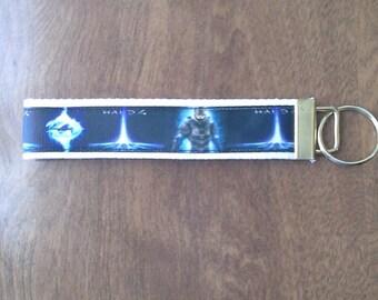 Halo wristlet key fob holder keychain