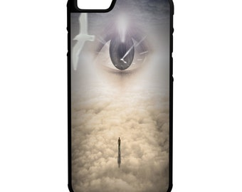 Eyes Watching Down iPhone Galaxy Note LG HTC Hybrid Rubber Protective Case