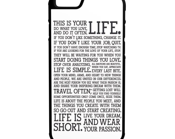 "Life Inspiration iPhone 4/4s 5/5s 5c 6 4.7"" 6 Plus 5.5"" Hybrid Rubber Protective Case"