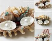 SALE   Seashell Wedding Ring Holder Ring bearer pillow alternative Wedding Ring Pillow Bearer Ring Pillow Beach Ring Pillow ring bearer
