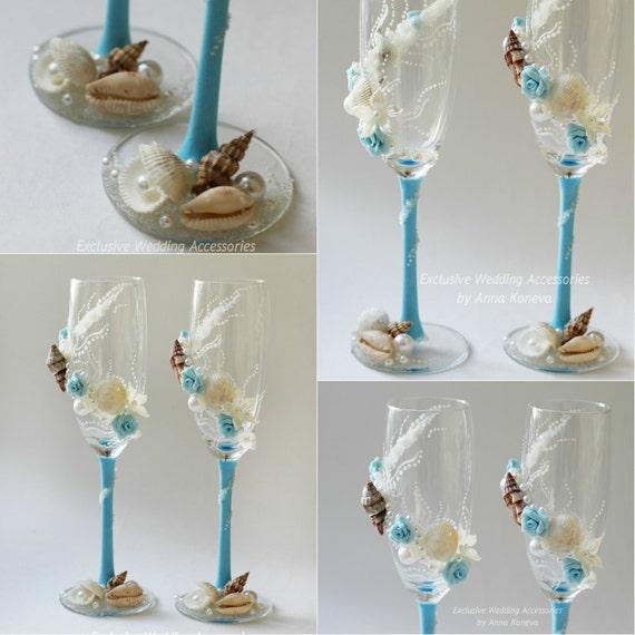 Beach Champagne: BEST SELLER Wedding Glasses Beach Wedding Champagne Glasses