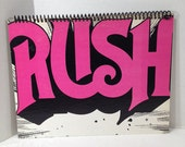 RUSH Handmade Vintage Record Cover Notebook Album Jacket Journal Ephemera || Unique Gift