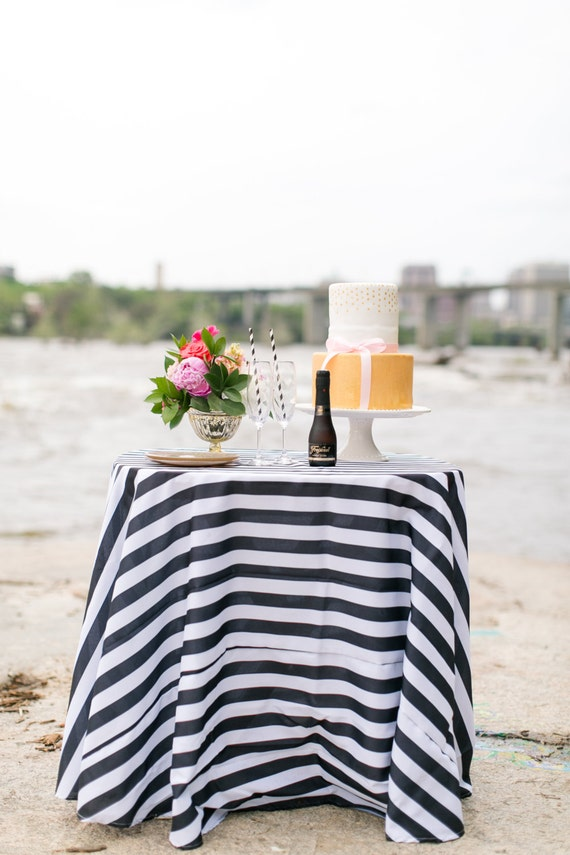 50 Off 20 Black And White Striped Tablecloth 1 Inch Stripe