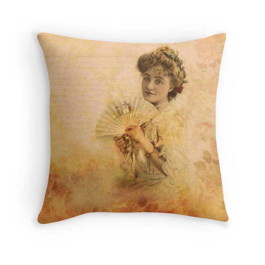 Victorian Era Pillows : Boho Decor Boho Pillow Victorian Cushion Victorian Pillow