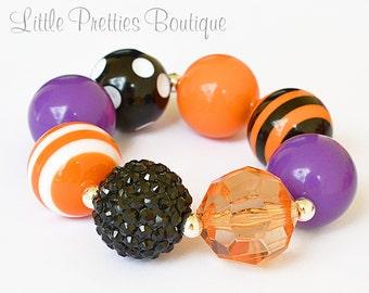 Halloween Bubblegum Bracelet, Chunky Bracelet, Statement Bracelet, Children's Bracelet, Girl's Bracelet, Chunky Bead Bracelet, BB05
