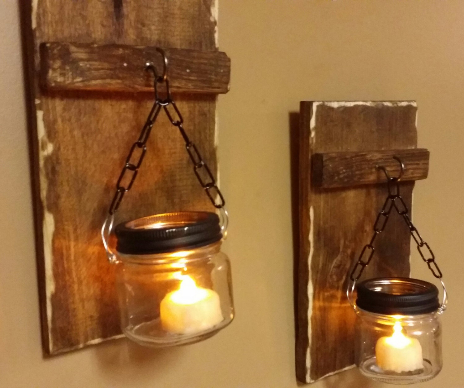 Rustic Candle Holders Mini Wood Candles by TeesTransformations