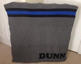 Thin Blue Line Blanket