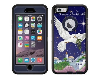 Apple iPhone 6 Otterbox Defender Peace on Earth Dove (B-349)