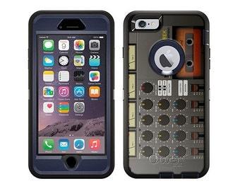 Apple iPhone 6 Otterbox Defender Cassette Mixer Recorder (B-408)