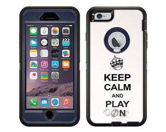 Apple iPhone 6 Otterbox Defender KEEP CALM And Play On - Football on White (B-1798-W)