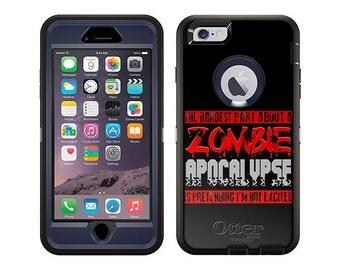 Apple iPhone 6 Otterbox Defender Hardest Part Zombie Apocalypse on Black (B-1811-B)