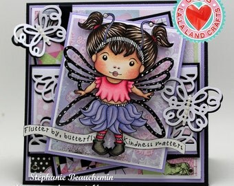 Butterfly girl card
