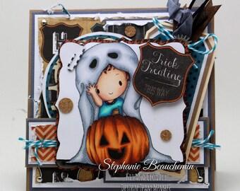 Halloween ghost kid card
