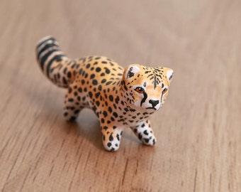 Cheetah animal totem - Polymer clay animal OOAK figurine