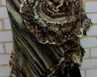 Hand knitted Shawl for women