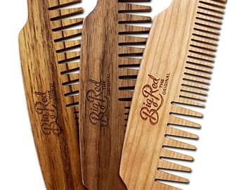 Big Red No.53 Beard Comb - FREE CUSTOM ENGRAVING