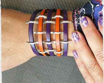 """Bracelet braided leather """"La bohème"""""""