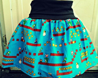 SNES Super Mario Bros. skirt / babydoll shirt