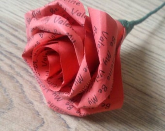 Special love message rose