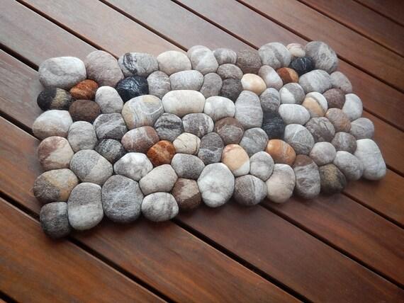 Felt Stone Rug Bath Mat Super Soft With Soft Core Wool