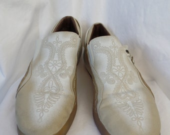 Alexander McQueen mens slip on Puma skater shoes/ tan rope pattern /slip on loafer style: US 12- UK11-EU 46-cm30