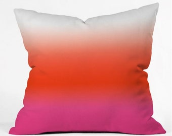 Throw Pillow Under the Sun Ombre Dip Dye