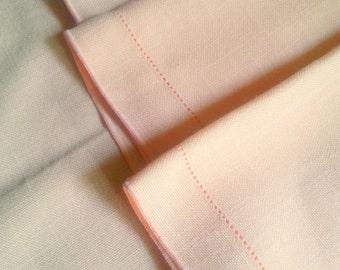 Napkins peach linen napkins cloth napkins wedding napkins Shabby chic napkins cottage napkins