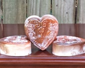 Southern Pumpkin Handmade Soap - Moisturizing Triple Butter - Heart Shaped - Detergent, SLS and Sulfate Free - FAAP,  HAFAIR, TeamHaHa