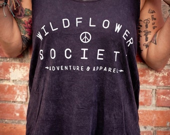 CLEARANCE Mineral Wash Slouchy Logo Tank
