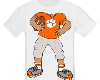 Clemson Tiger Heads Up! Football Player Baby/Toddler T-Shirt