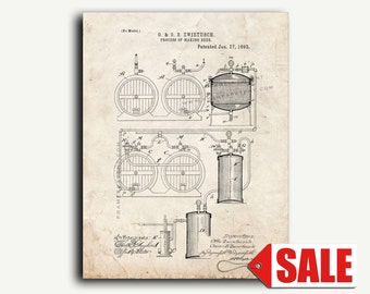 Patent Print - Process Of Making Beer Patent Wall Art Poster