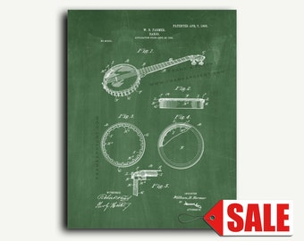 Patent Art - Banjo Patent Wall Art Print